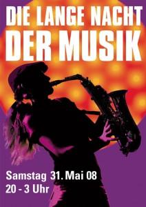 Plakat der langen Nacht der Musik München