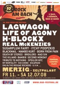Rock am Bach 2008 Lineup