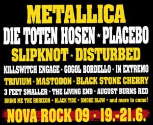 nova rock metallica 2009