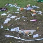 Müllberge auf dem Southside 2009