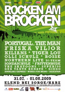 Rocken am Brocken Plakat 2009