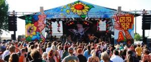 sunflower festival buehne