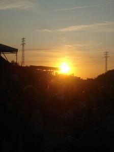 Sonnenuntergang auf dem Dockville