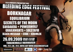 bleeding edge festival flyer
