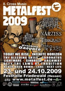 metalfest flyer 2009