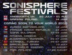 sonisphere termine 2010