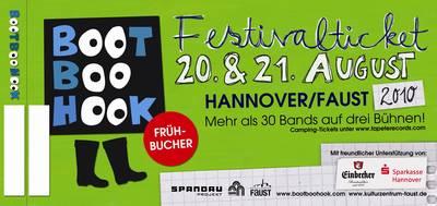 bootboohook 2010 ticket