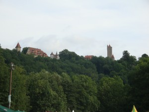Sonne über der Rothenburg