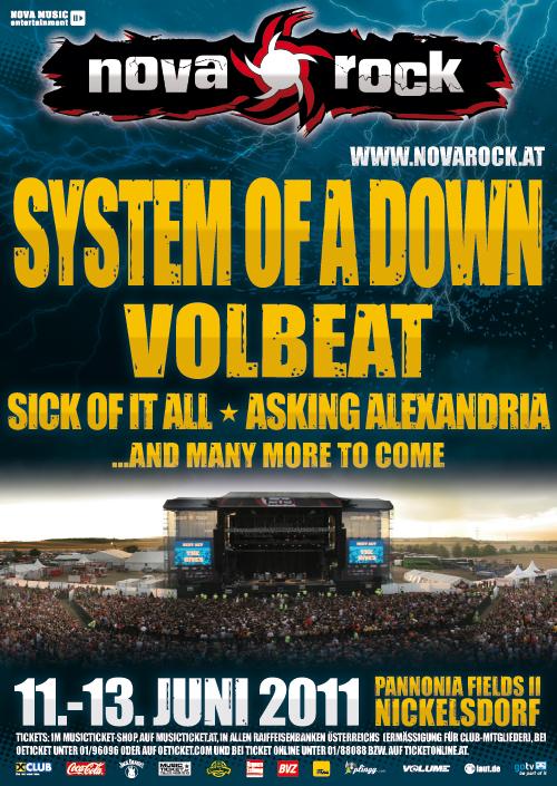 Nova Rock 2011 Mit Soad Und Volbeat