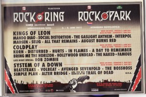 Rock am Ring Lineup - Stand 9.2. im Musikexpress