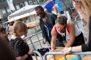 The Pusher bei der Autogrammstunde - Hammer Summer 2011