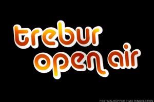 Leuchtschrift am Trebur Open Air Eingang