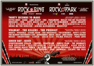 rock am ring rock im park lineup 2013