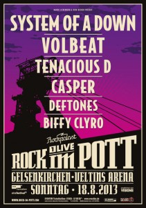Rock im Pott Lineup 2013