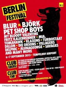 poster blur björk berlin festival 2013