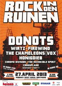 rock in den ruinen 2013 plakat