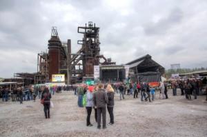 Rock in den Ruinen - Gelände-HDR