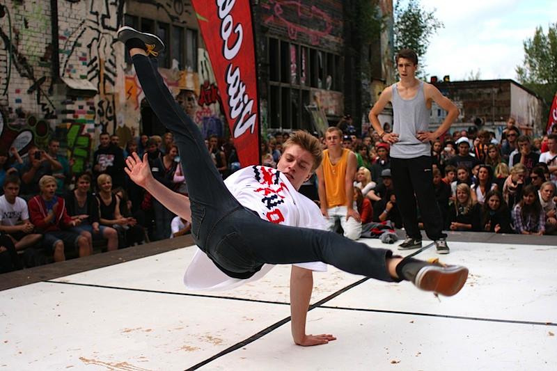 Breakdance auf dem fokus Festival in Görlitz. (Foto: Michael Lippold)