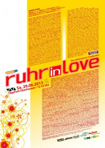 Ruhr in Love Line up 2013