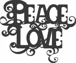 peace and love logo