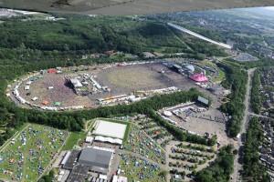 Pinkpop Festival In-Flight Shot