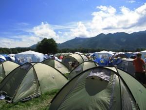 mein zelt steht schon CRS-camp