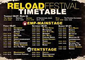 reload festival timetable 2013
