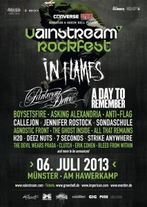 Vainstream Rockfest 2013 flyer
