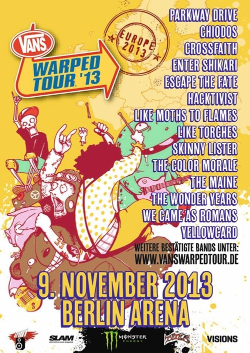 vans warped tour berlin 2013 flyer