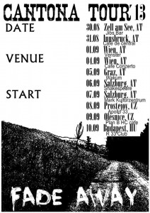 Cantona auf Tour durch Europa