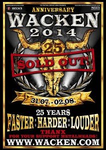 Wacken 2014 Tickets ausverkauft