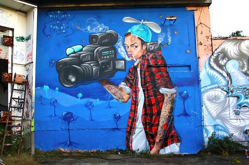 Street Art auf dem fokus Festival (Foto: Markus Lippold)