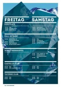 Timetable Bergfestival 2013
