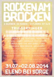 rocken am brocken 2014 lineup triggerfinger