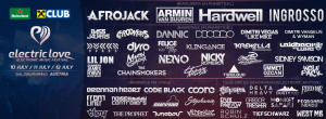 electric love line-up 2014