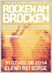 rocken am brocken 2014 finales line-up