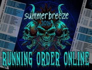 summerbreeze Running Order 2014