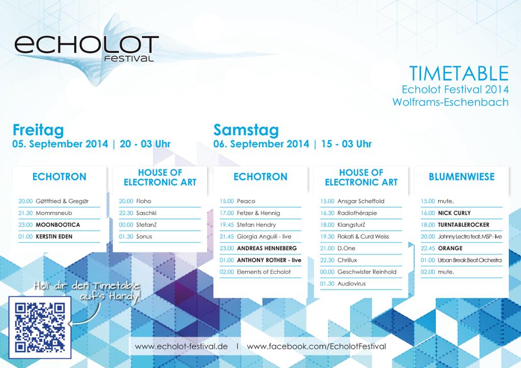 Echolot Festival 2014 Timetable