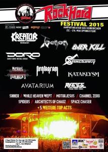 rock hard 2015 dez line-up