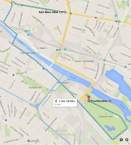 Zug-der-Liebe-Route-2015 (c) Google Maps
