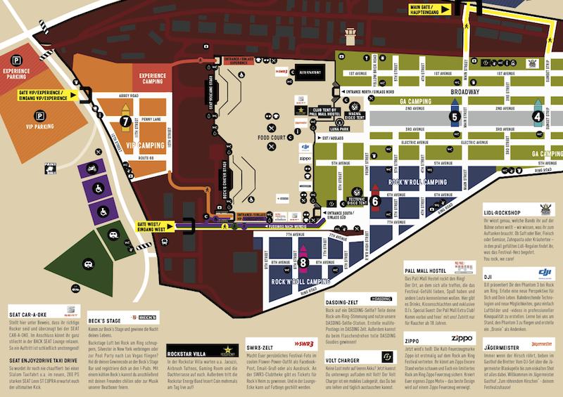 Rock Am Ring Karte.Rock Am Ring Geländepläne Zeitpläne Und Letzte Infos