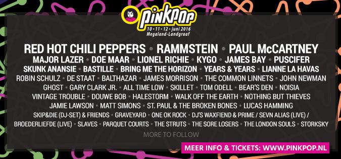 Pinkpop-2016-lineup