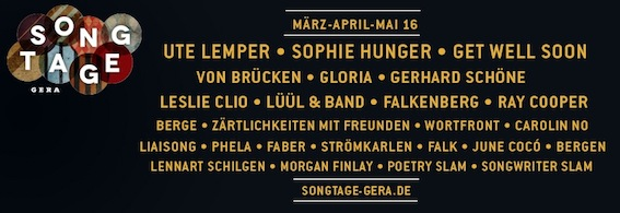 Songtage-2016_Line Up