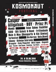 kosmonaut Festival 2016 line up april