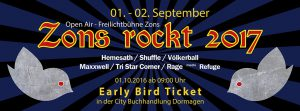 Early Bird Ticket für Zons rockt 2017 in der City Buchhandlung Dormagen