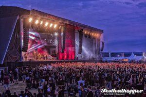 15.000 Metal Fans feirern beim Rockharz Open Air 2017 auf dem Flugplatz Ballenstedt. Ballenstedt, 08.07.2017