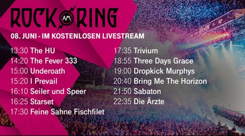 Rock Am Ring Tv Und Livestream 2019