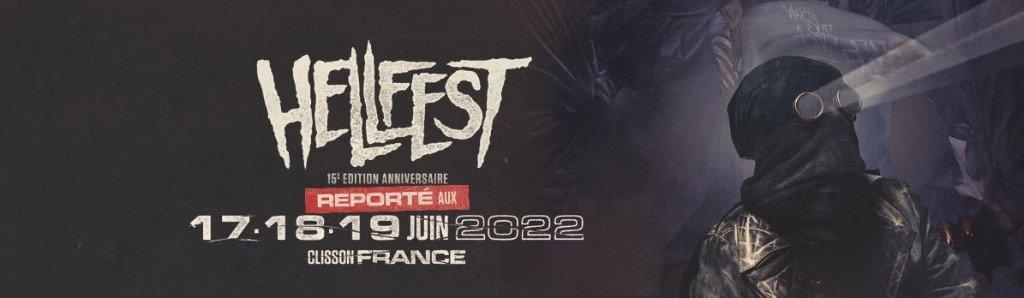 Offizielle PR-Grafik bzgl. Absage Hellfest 2021 und Termin 2022.
